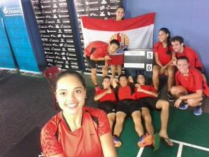 Photo  : page Facebook Tahiti Badminton Federation