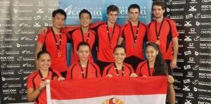 Médaille de bronze pour l'Equipe de Tahiti aux Championnats d'Océanie Photo  : page Facebook Tahiti Badminton Federation